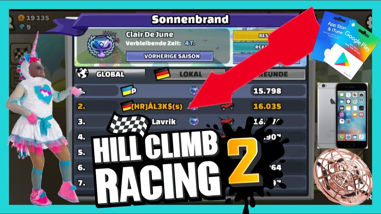 -HILL CLIMB RACING 2- 2te Platz Global bei Rallye Sonnenbrand! So schickt ihr mir Eure Rekord Videos