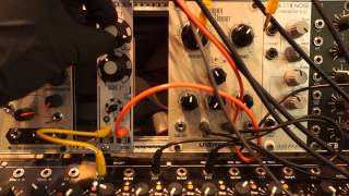 ORPHO KICK DRUM I ANALOG EURORACK MODULE triggered by the MFB Sequencer in DOEPFER FRAME