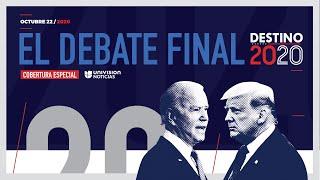 Trump y Biden, en el último debate antes de las elecciones: seguilo en vivo