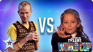 KNOCKOUT MATCH: Robert White vs Issy Simpson | Britain's Got Talent World Cup 2018