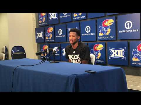 KU freshman Ochai Agbaji on facing Kentucky in Big 12/SEC Challenge