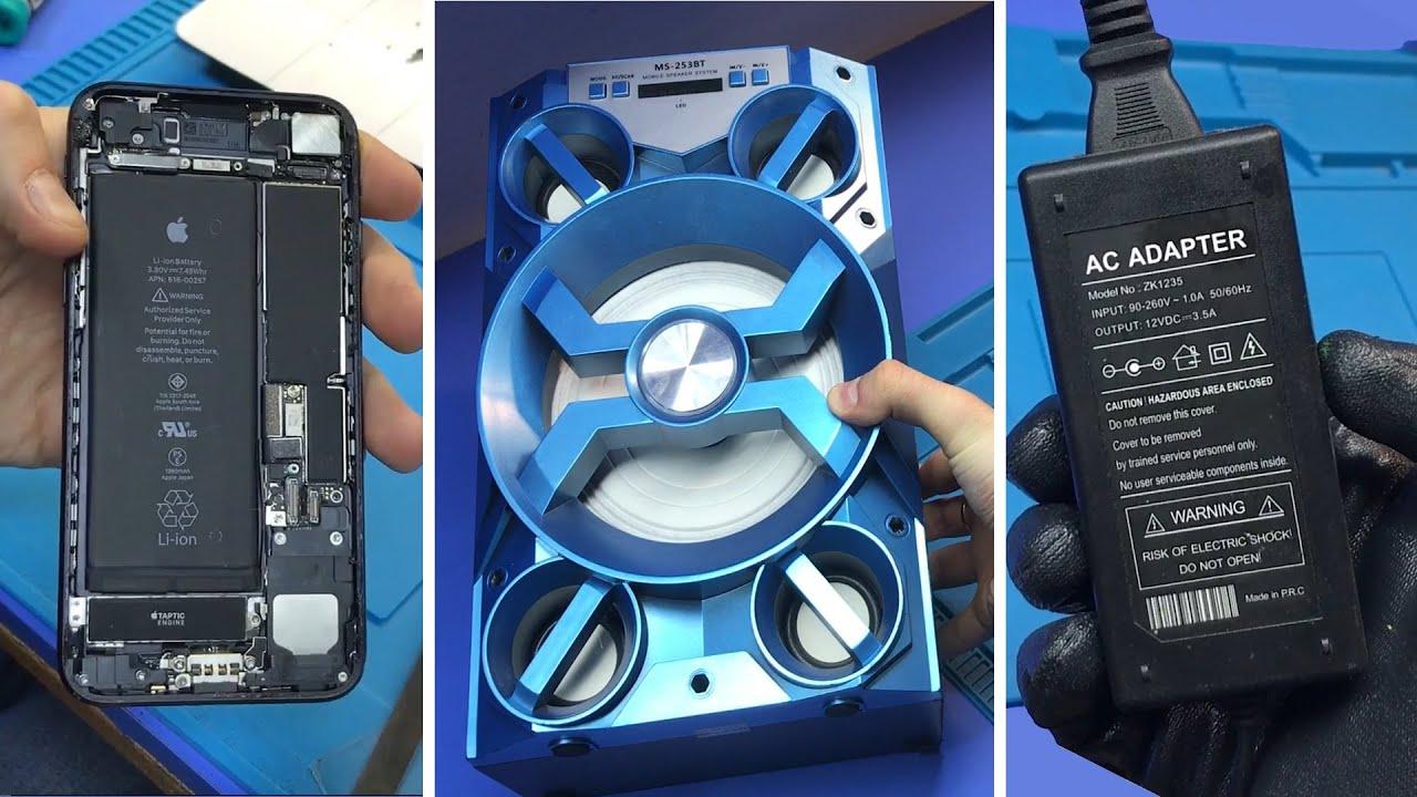 Клиент СПАЛИЛ iphone 7 через неисправное З.У | Не включается аудиосистема | Ремонт кухонного телека