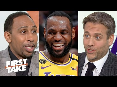 Stephen A Smith and Max Kellerman debate whether or not LeBron is playing too hard in the regular season
