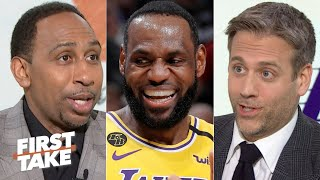 Is LeBron risking the Lakers' postseason by playing too hard? First Take debates
