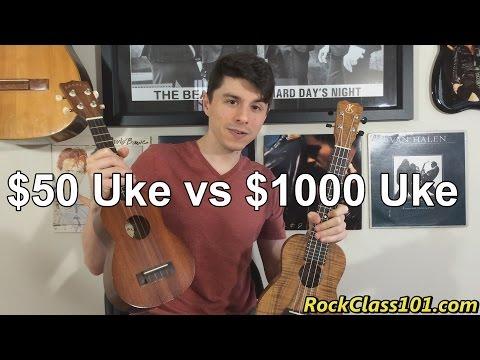 $50 Ukulele vs $1000 Ukulele Comparison