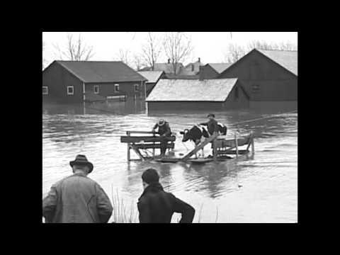 16mm Film of the 1936 Flood in Northampton, MA