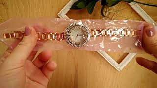 Женские кварцевые часы со стразами с сайта aliexpress