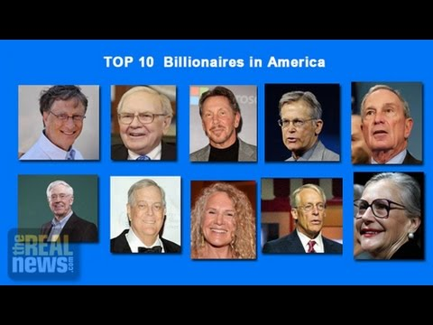 Top 400 US Billionaires' Wealth Equals Brazil's GDP