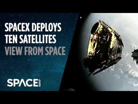 Spacex Deploys Iridium Next Satellites View From Space