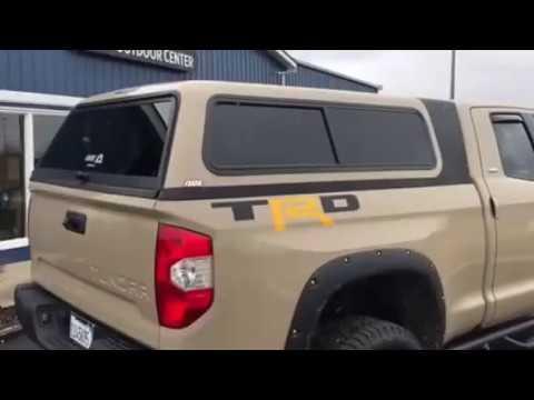 ARE Overland fiberglass truck topper Toyota Tundra & ARE Overland fiberglass truck topper Toyota Tundra - YouTube