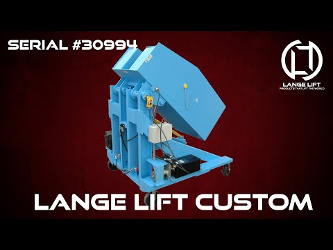 Mobile Battery Powered Box Dumper | 2,000 Pound Capacity
