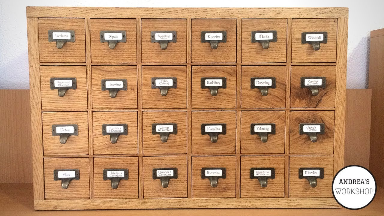 24 Drawer Apothecary Cabinet   Making Of