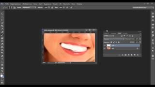 Отбелить зубы в фотошопе Видео уроки-12