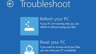 Windows 8 F8 key get advance options, How to Reload Toshiba windows 8 Reset Windows 8 Password