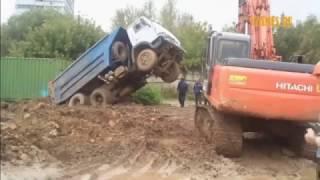 Приколы з грузовиками №2.Fun moments with trucks №2.