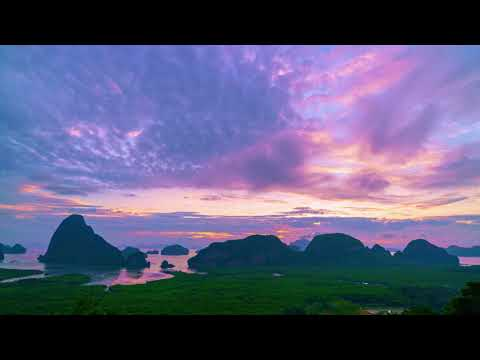 Timelapse video at  beautiful sunset  sunrise nature in  krabi , phangnga , phuket