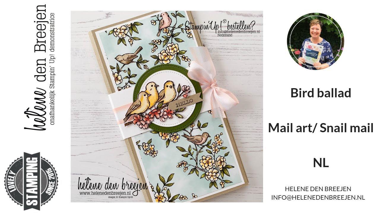 Stampin'Up! Bird ballad - Mail art/ Snail mail NL
