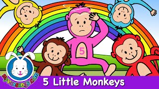 Five Little Monkeys Jumping On The Bed | Nursery Rhymes