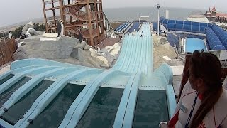 Stuck on the Water Slide at Iceland
