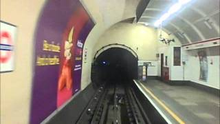 London Underground Central Line Drivers Eye View: Notting Hill Gate - Oxford Circus
