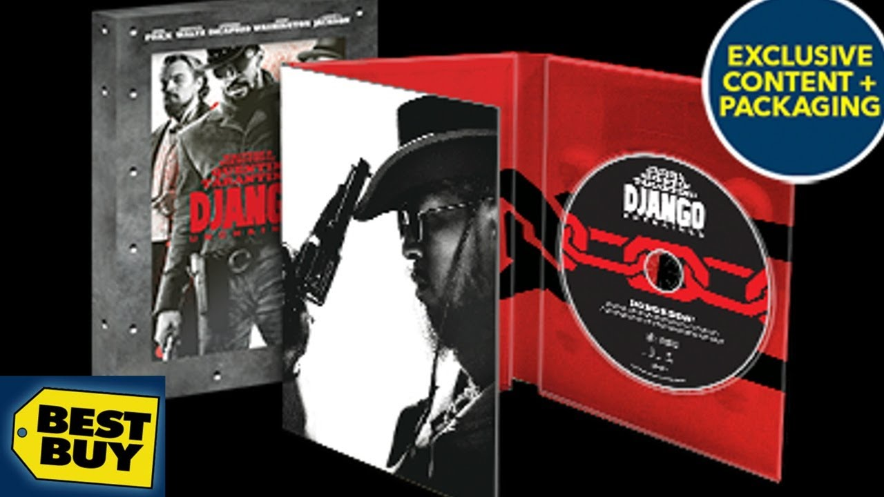 Download Django Unchained Best Buy Exclusive Blu-ray/DVD DigiPack Unboxing - (2012) - Quentin Tarantino