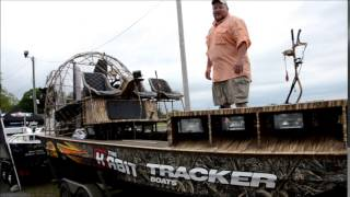 a high tech bowfishing boat