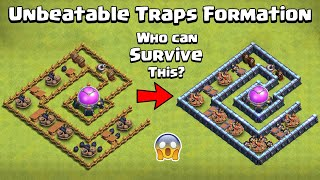 Ultimate TRAPS Formation | Traps Vs All Troops | Clash of Clans