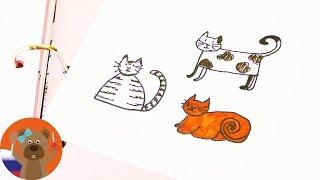 Простые рисунки в ежедневнике которые сможет нарисовать каждый Тема КОТИКИ