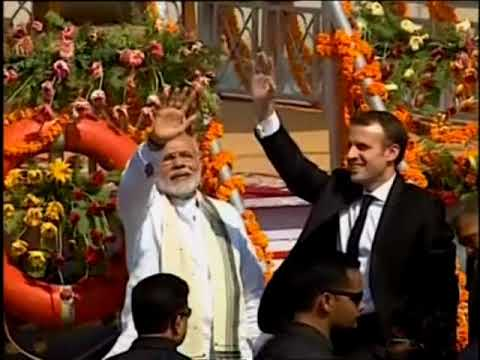 Macron and Modi take boat ride on India's Ganges river