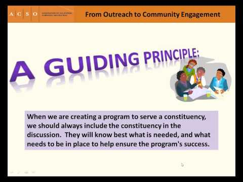 Webinar: From Outreach to Community Engagement