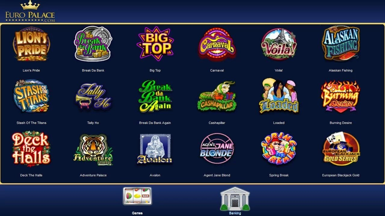 Europalace Casino Login