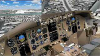FS2004: Boeing 767-300 ILS landing RWY36 @ Omaha / Eppley Airfield [KOMA]