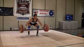 D'Angelo Osorio 160kg snatch and 196kg Clean and Jerk 2014 Hassle Free Invitational
