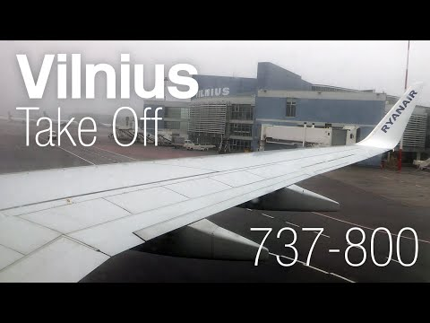 COLD WEATHER OPS ✈ Ryanair ✈ 737-8AS EI-ESM ✈ Vilnius Depart