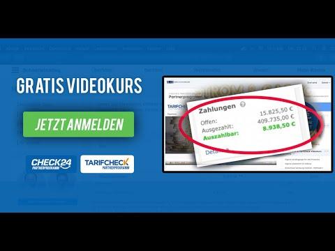 Geld verdienen mit Check24 Partnerprogramm - Gratis-Videokurs