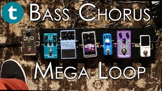 What do 5 Bass Chorus Pedals sound like simultaneously? | Loop Demo