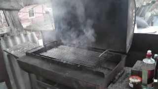 видео металлический мангал барбекю