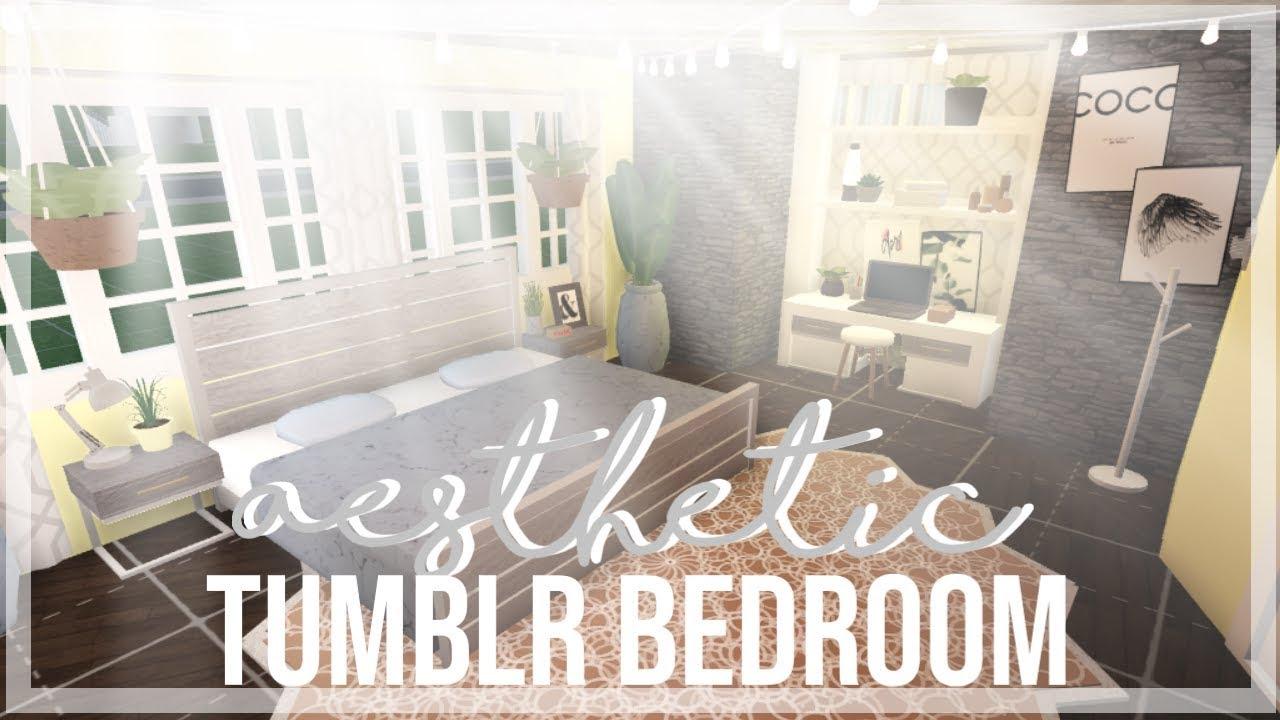 ROBLOX | Bloxburg : Aesthetic Tumblr Bedroom ♡ - YouTube