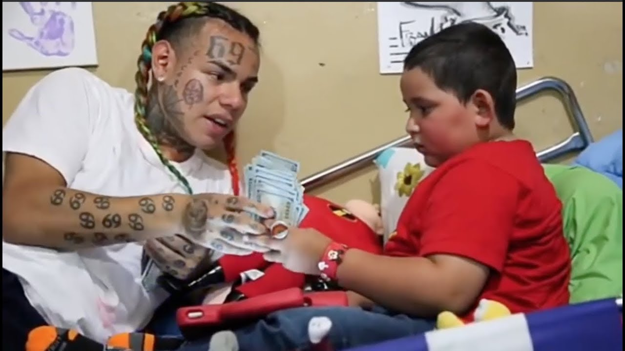Compilation of POSITIVE 6ix9ine - Meeting Cancer Patients, Feeding Homeless and more!