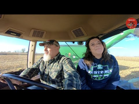 High Yielding Corn And My Daughter Rides Along In The Tractor.