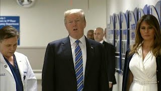 Trump visits Florida school shooting survivors
