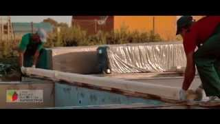 Сборка дома из клееного бруса