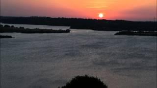 Coucher de soleil sur le lac de Pareloup - Juillet 2014