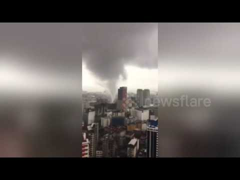 Powerful twister hits Manila, Philippines