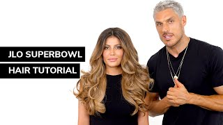 How To Re-Create JLo's Super Bowl Hair | Chris on Tutorial