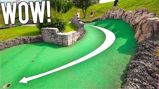I Can't Believe We Actually Got A Mini Golf Hole In One Here!