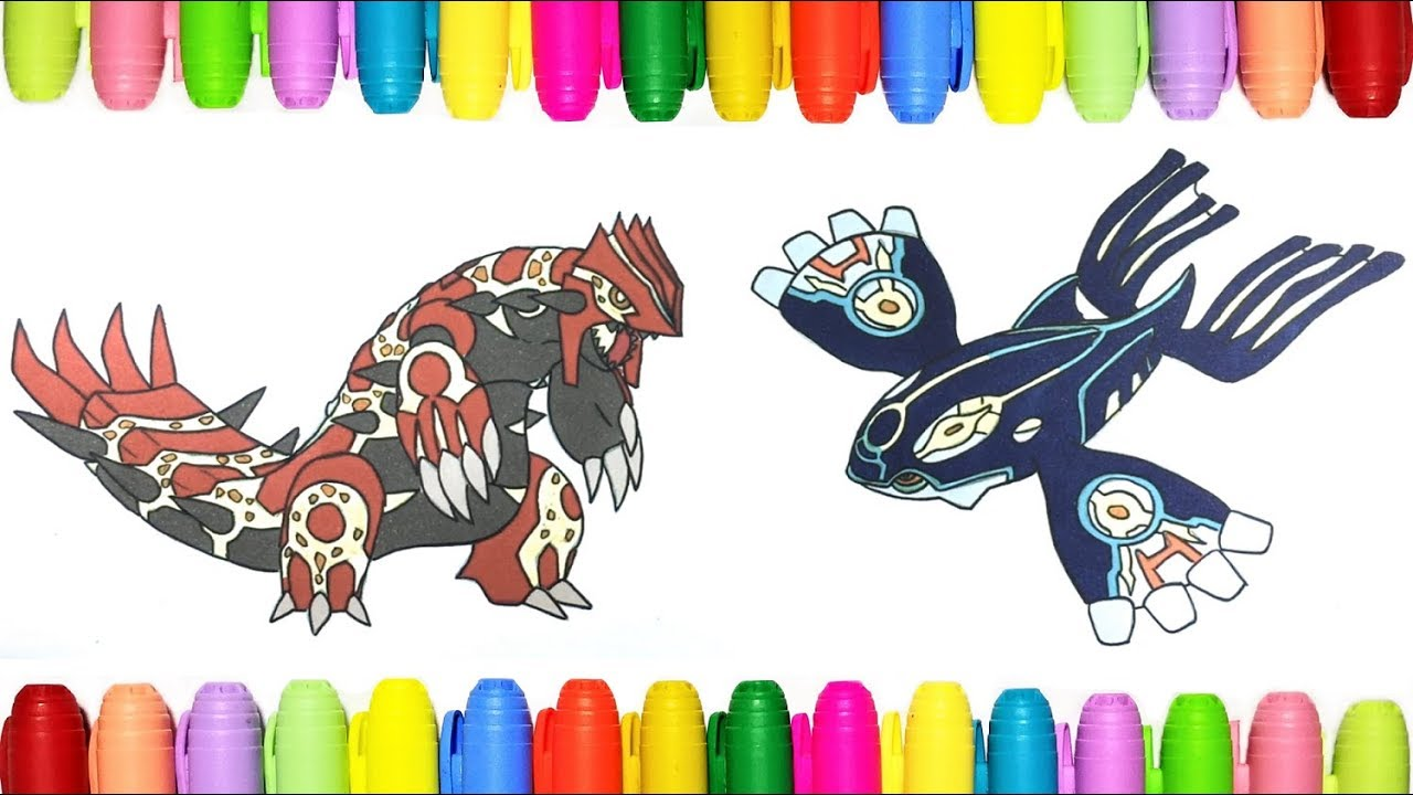 Pokemon Coloring Pages Primal