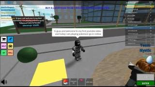 ROBLOX POKEMON GO! ME BEING A NOOB!! EP1!