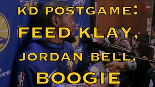 Entire KD (DURANT) postgame: