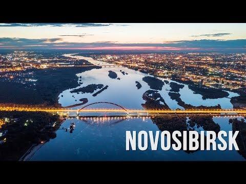Novosibirsk. Siberia. Dronelapse